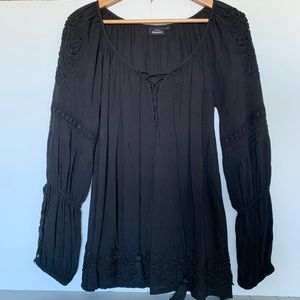 XS / S Vintage Peasant Blouse /  baby doll dress